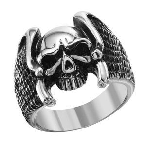 Other - New Men's Stainless Steel Eagle Wings Skull Ring